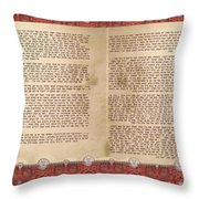 Meguilat Esther-esther Scroll The Whole Text Throw Pillow