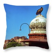 Mehrangarh Fort - Approach With Caution Throw Pillow