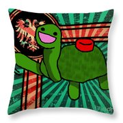 Meine Turtle Throw Pillow