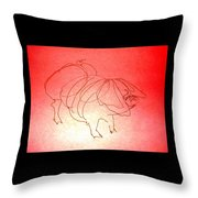 Meishan Sow 3 Throw Pillow