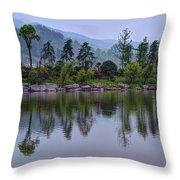 Meitan County Reflection - Guizhou, China Throw Pillow