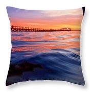 Mel Beach Red Throw Pillow