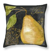 Melange French Yellow Pear Throw Pillow