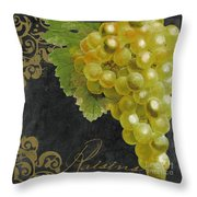 Melange Green Grapes Throw Pillow