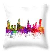 Melbourne Australia Cityscape 02 Throw Pillow