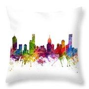 Melbourne Australia Cityscape 06 Throw Pillow