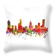 Melbourne Australia Cityscape 08 Throw Pillow