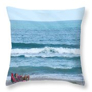 Melbourne Beach Florida On The Phone Throw Pillow