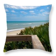 Melbourne Beach In Florida Throw Pillow