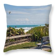 Melbourne Beach In Florida Usa Throw Pillow