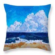 Melbourne Beachside Throw Pillow