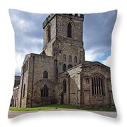 Melbourne Parish Church In Derbyshire Throw Pillow