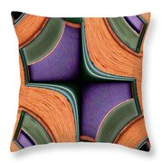 Melded Windows Throw Pillow
