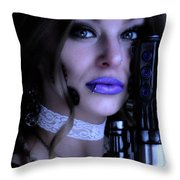 Melissa Gotta Gun Throw Pillow