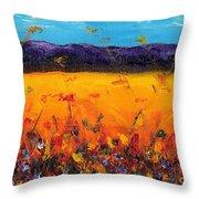 Melissa's Meadow Throw Pillow