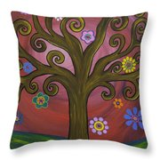 Melissa's Tree Throw Pillow
