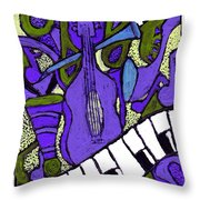 Melllow Jazz Throw Pillow