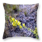 Who Is This Yellow Fellow Throw Pillow