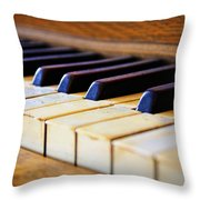 Melodies And Memories Throw Pillow