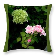 Melody Of Flowers Throw Pillow