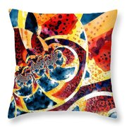 Melon And Blueberry Melange Throw Pillow