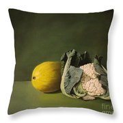 Melon Cauli Throw Pillow