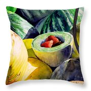 #18 Melons Plus Throw Pillow