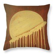 Vanilla Moon Throw Pillow