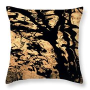 Melted Chocolate Throw Pillow