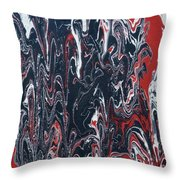 Melted Flower Throw Pillow