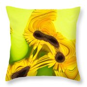 Melted Flowers Throw Pillow