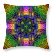 Melted Throw Pillow by Lyle Hatch