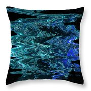 Melting Blue Ice Throw Pillow