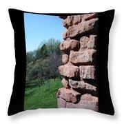 Melting Brick Wall Throw Pillow