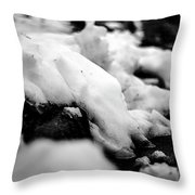 Melting Drift Throw Pillow