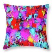 Melting Flowers Abstract  Throw Pillow