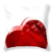 Melting Heart Throw Pillow