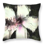Melting Hibiscus Throw Pillow