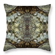 Melting Ice Over Water - Monadnock 2 Throw Pillow