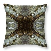 Melting Ice Over Water - Mount Monadnock 1 Throw Pillow