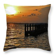 Melting Into Darkness  Throw Pillow