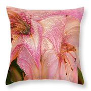 Melting Lilly Throw Pillow