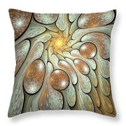 Melting Motions Throw Pillow