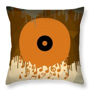 Melting Music Throw Pillow
