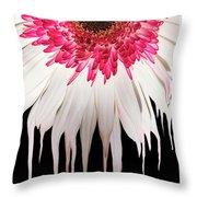 Melting Petals Throw Pillow