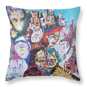 Melting Pot- Hyderabad Throw Pillow