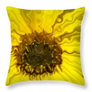 Melting Sunflower Throw Pillow