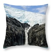 Meltwater From The Northland Glacier Throw Pillow by Ray Bulson