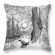 Melville: Moby Dick Throw Pillow by Granger