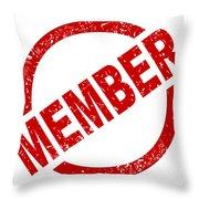 Member Ink Stanp Throw Pillow